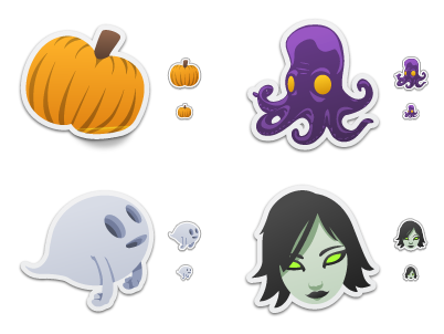 Spooky Stickers preview